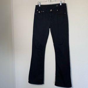 L A idol black cotton pants with 2% spandex